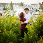 Mary & Mike: Engagement Session at Frenchman's Bay Marina